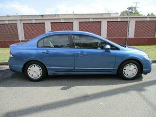 2007 Honda Civic 8th Gen MY07 Hybrid Blue 1 Speed Constant Variable Sedan Hybrid.