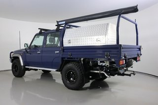 2018 Toyota Landcruiser VDJ79R GXL (4x4) Blue 5 Speed Manual Double Cab Chassis