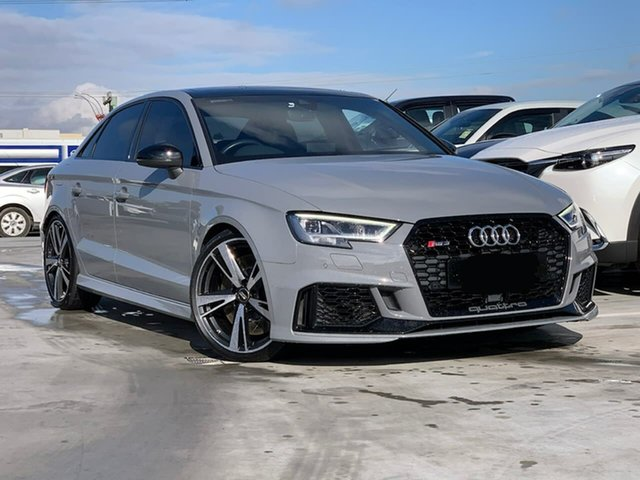 Used Audi RS 3 8V MY18 S Tronic Quattro Liverpool, 2017 Audi RS 3 8V MY18 S Tronic Quattro Grey 7 Speed Sports Automatic Dual Clutch Sedan