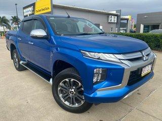 2019 Mitsubishi Triton MR MY20 GLS Double Cab Blue/041219 6 Speed Sports Automatic Utility.