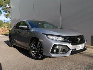 2019 Honda Civic 10th Gen MY18 VTi-LX Silver 1 Speed Constant Variable Hatchback.