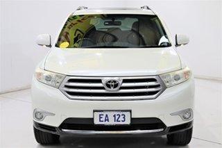 2012 Toyota Kluger GSU40R MY12 Altitude 2WD White 5 Speed Sports Automatic Wagon.