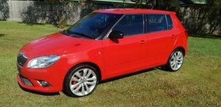 2012 Skoda Fabia 5JF MY13 RS DSG 132TSI Red 7 Speed Sports Automatic Dual Clutch Hatchback.