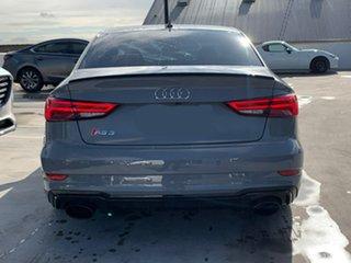 2017 Audi RS 3 8V MY18 S Tronic Quattro Grey 7 Speed Sports Automatic Dual Clutch Sedan.