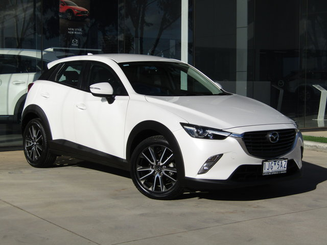 Used Mazda CX-3 DK2W7A sTouring SKYACTIV-Drive Ravenhall, 2017 Mazda CX-3 DK2W7A sTouring SKYACTIV-Drive White 6 Speed Sports Automatic Wagon