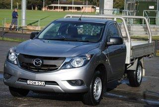 2017 Mazda BT-50 UR0YE1 XT 4x2 Grey 6 Speed Manual Cab Chassis.