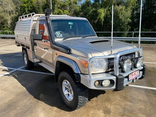 2007 Toyota Landcruiser VDJ79R GXL (4x4) Gold 5 Speed Manual Cab Chassis.