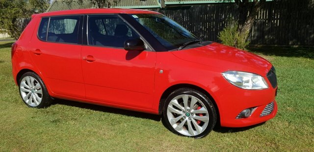 Used Skoda Fabia 5JF MY13 RS DSG 132TSI Kippa-Ring, 2012 Skoda Fabia 5JF MY13 RS DSG 132TSI Red 7 Speed Sports Automatic Dual Clutch Hatchback