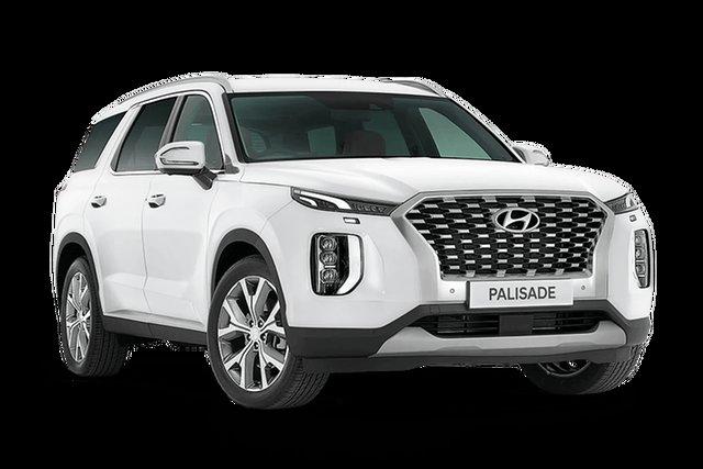 Demo Hyundai Palisade LX2.V1 MY21 Highlander AWD Hamilton, 2021 Hyundai Palisade LX2.V1 MY21 Highlander AWD White Cream 8 Speed Sports Automatic Wagon