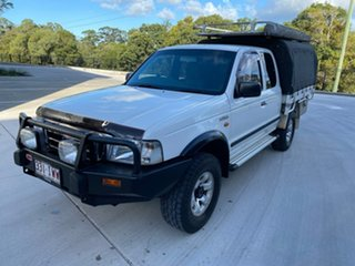 2003 Ford Courier PG XL Super Cab White 5 Speed Manual Cab Chassis.