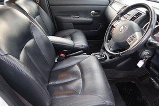 2010 Nissan Tiida C11 MY07 TI White 4 Speed Automatic Sedan