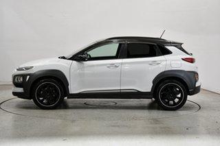 2017 Hyundai Kona OS MY18 Elite 2WD Chalk White & Phantom Black Roof 6 Speed Sports Automatic Wagon.