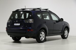 2011 Mitsubishi Outlander ZH MY11 LS (7 Seat) Blue 6 Speed CVT Auto Sequential Wagon