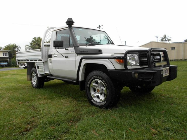 Used Toyota Landcruiser VDJ79R MY12 Update GX (4x4) Bungalow, 2014 Toyota Landcruiser VDJ79R MY12 Update GX (4x4) White 5 Speed Manual Cab Chassis