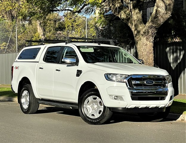 Used Ford Ranger PX MkII XLT Double Cab Hyde Park, 2017 Ford Ranger PX MkII XLT Double Cab White 6 Speed Sports Automatic Utility