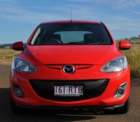 2011 Mazda 2 DE MY11 Genki Red 5 Speed Manual Hatchback.