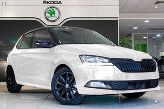2021 Skoda Fabia NJ MY21 81TSI DSG Run-Out Edition White 7 Speed Sports Automatic Dual Clutch.