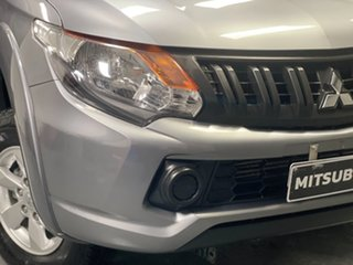 2018 Mitsubishi Triton MQ MY18 GLX+ Double Cab Grey 5 Speed Sports Automatic Utility.