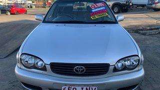 2000 Toyota Corolla AE112R Ascent Seca Silver 5 Speed Manual Liftback.