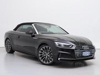 2018 Audi A5 F5 MY18 2.0 TFSI Quattro S Tronic Sprt Black 7 Speed Auto Dual Clutch Cabriolet.