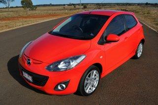 2011 Mazda 2 DE MY11 Genki Red 5 Speed Manual Hatchback