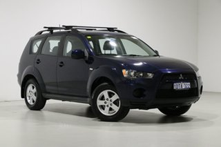2011 Mitsubishi Outlander ZH MY11 LS (7 Seat) Blue 6 Speed CVT Auto Sequential Wagon.