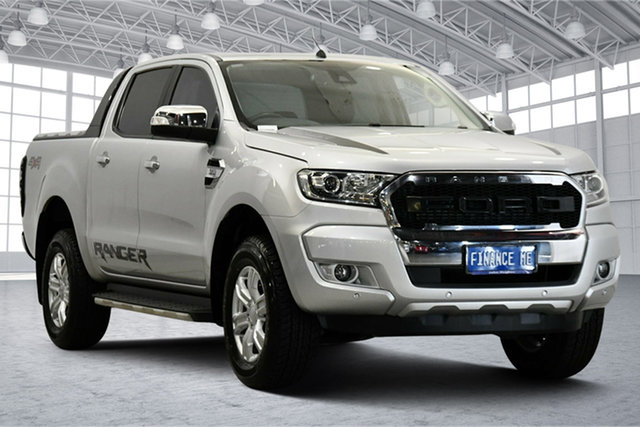 Used Ford Ranger PX MkII XLT Double Cab Victoria Park, 2017 Ford Ranger PX MkII XLT Double Cab Ingot Silver 6 Speed Sports Automatic Utility