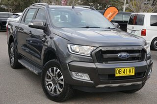2017 Ford Ranger PX MkII 2018.00 Wildtrak Double Cab Grey 6 Speed Sports Automatic Utility.