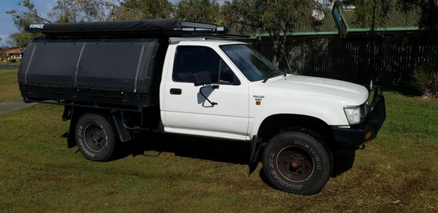 Used Toyota Hilux LN106R Kippa-Ring, 1991 Toyota Hilux LN106R White 5 Speed Manual Cab Chassis