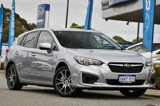 2017 Subaru Impreza G5 MY18 2.0i CVT AWD Silver 7 Speed Constant Variable Hatchback.