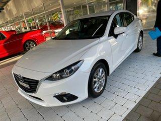 2015 Mazda 3 Maxx White Sports Automatic Sedan.