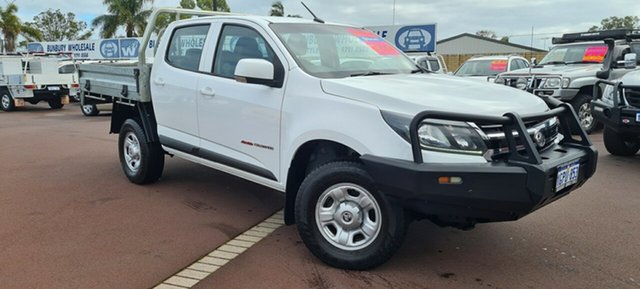 Used Holden Colorado RG MY18 LS Crew Cab East Bunbury, 2018 Holden Colorado RG MY18 LS Crew Cab White 6 Speed Sports Automatic Cab Chassis