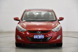 2012 Hyundai Elantra MD Premium Red Allure 6 Speed Sports Automatic Sedan.