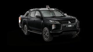 2021 Mitsubishi Triton MR MY22 GSR Double Cab Black 6 Speed Sports Automatic Utility