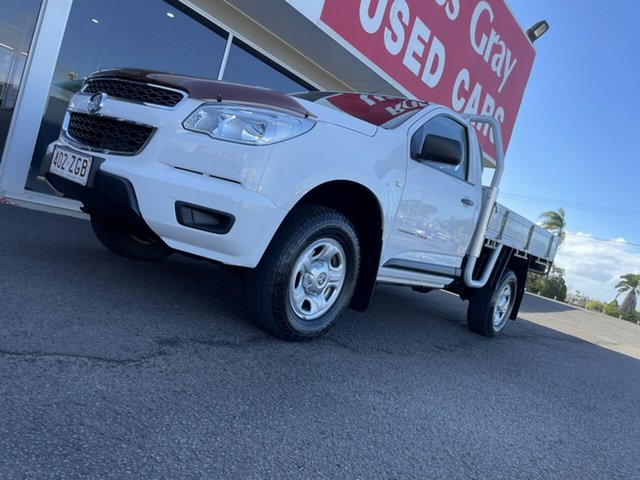 Used Holden Colorado RG MY15 DX Bundaberg, 2015 Holden Colorado RG MY15 DX White 6 Speed Manual Cab Chassis