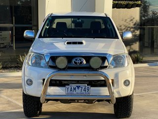 2010 Toyota Hilux KUN26R MY10 SR5 White 4 Speed Automatic Utility.