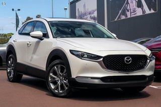 2021 Mazda CX-30 DM2WLA G25 SKYACTIV-Drive Astina White 6 Speed Sports Automatic Wagon.