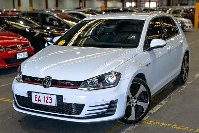 Used Volkswagen Golf VII MY15 GTI DSG Hendra, 2014 Volkswagen Golf VII MY15 GTI DSG White 6 Speed Sports Automatic Dual Clutch Hatchback