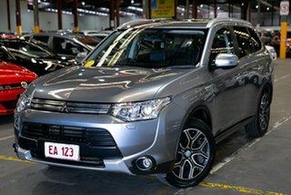 2014 Mitsubishi Outlander ZJ MY14.5 PHEV AWD Aspire Silver 1 Speed Automatic Wagon Hybrid.