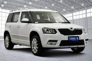 2014 Skoda Yeti 5L MY14 90TSI DSG Ambition White 7 Speed Sports Automatic Dual Clutch Wagon.