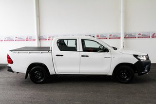 2016 Toyota Hilux TGN121R Workmate Glacier White 6 Speed Automatic Dual Cab Utility