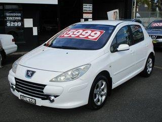 2006 Peugeot 307 MY06 Upgrade XSE HDi 2.0 White 6 Speed Tiptronic Hatchback.