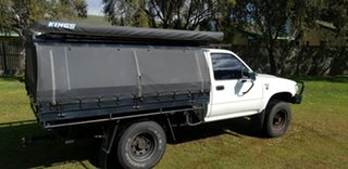 1991 Toyota Hilux LN106R White 5 Speed Manual Cab Chassis
