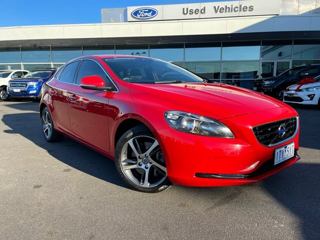 Used Volvo V40 M Series MY16 T3 Adap Geartronic Kinetic Essendon Fields, 2016 Volvo V40 M Series MY16 T3 Adap Geartronic Kinetic Red 6 Speed Sports Automatic Hatchback