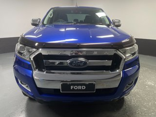 2016 Ford Ranger PX MkII XLT Double Cab Aurora Blue 6 Speed Sports Automatic Utility.