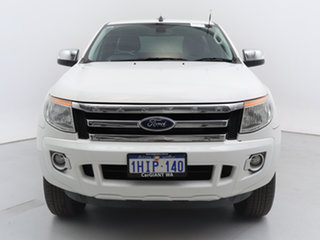 2015 Ford Ranger PX XLT 3.2 (4x4) White 6 Speed Automatic Super Cab Utility.