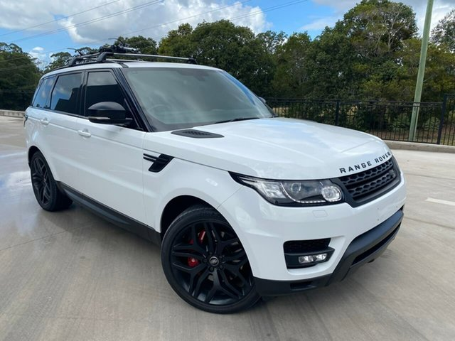 Used Land Rover Range Rover Sport L494 MY15 SDV8 HSE Dynamic Cooroy, 2014 Land Rover Range Rover Sport L494 MY15 SDV8 HSE Dynamic White 8 Speed Sports Automatic Wagon
