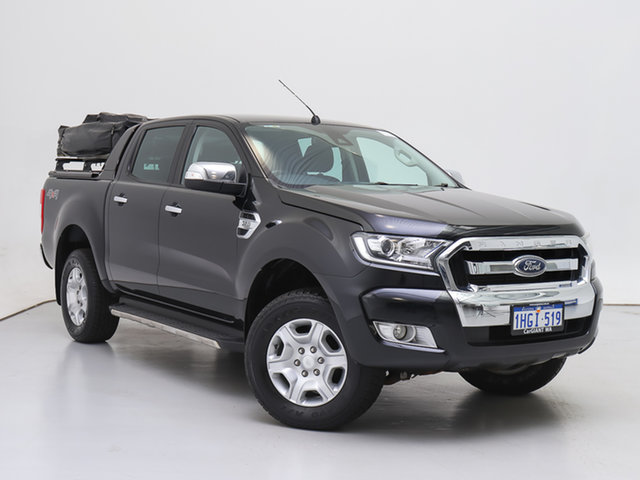 Used Ford Ranger PX MkII XLT 3.2 (4x4), 2016 Ford Ranger PX MkII XLT 3.2 (4x4) Black 6 Speed Automatic Double Cab Pick Up