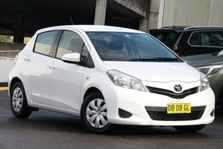 2012 Toyota Yaris NCP130R YR White 4 Speed Automatic Hatchback.