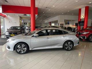 2018 Honda Civic 10th Gen MY18 VTi-L Silver 1 Speed Constant Variable Sedan.